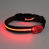 Adjustable LED Dog Collar - Black