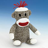 Talking Pip Squeeks Sock Monkey