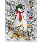 Woodland Snowman 300 Large Piece Jigsaw Puzzle