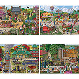 Set of 4: Joseph Burgess 300 Large Piece Jigsaw Puzzles