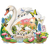 Mother Swan 300 Large Piece Shaped Jigsaw Puzzle