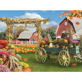 Pumpkin Patch 300 Large Piece Jigsaw Puzzle