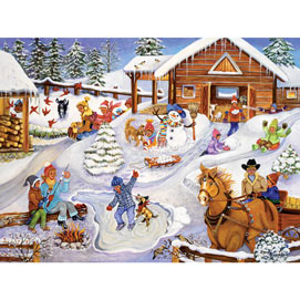 Winter Fun On The Farm 500 Piece Jigsaw Puzzle