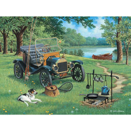 Happy Campers 500 Piece Jigsaw Puzzle