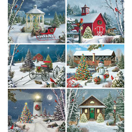 Set of 6: Alan Giana 500 Piece Jigsaw Puzzles