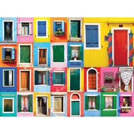 Colorful Doorways 1500 Piece Jigsaw Puzzle