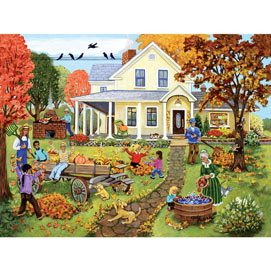 Fall Family Fun 500 Piece Jigsaw Puzzle