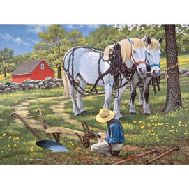 To The Fields 300 Large Piece Jigsaw Puzzle