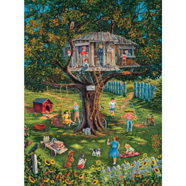Stevie's Tree House Memories 1000 Piece Jigsaw Puzzle