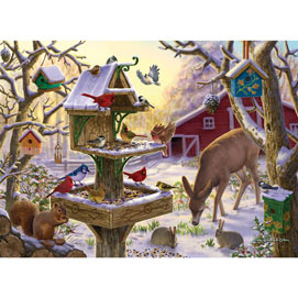 Sunrise Feasting 500 Piece Jigsaw Puzzle