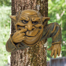 Nose Picking Gnome Tree Hanger