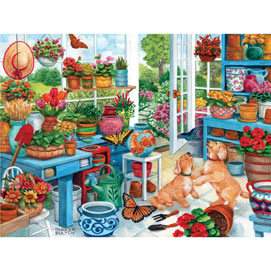 Greenhouse Fun 300 Large Piece Jigsaw Puzzle