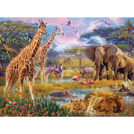 Savannah Animals 300 Large Piece Jigsaw Puzzle