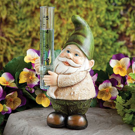 Gnome Rain Gauge Sculpture