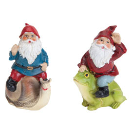Set of 2: Riding Gnomes