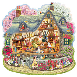 Kelly's Blossom Cottage 750 Piece Shaped Jigsaw Puzzle