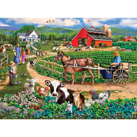 Family Farm 1000 Piece Jigsaw Puzzle