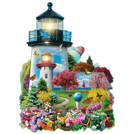 Lighthouse Garden 750 Piece Shaped Jigsaw Puzzle