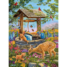 Wishing Well 500 Piece Jigsaw Puzzle
