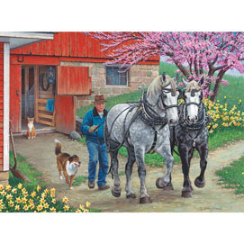 Back In The Harness 300 Large Piece Jigsaw Puzzle