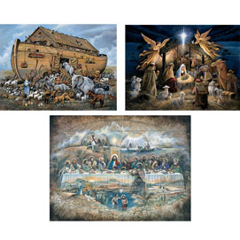 Set of 3: The Power Of Inspiration 300 Large Piece Jigsaw Puzzle
