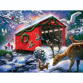 Winter Bridge 300 Large Piece Jigsaw Puzzle