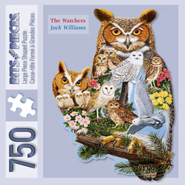 The Watchers 750 Piece Shaped Jigsaw Puzzle