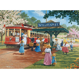 Trolley Picnic 300 Large Piece Jigsaw Puzzle