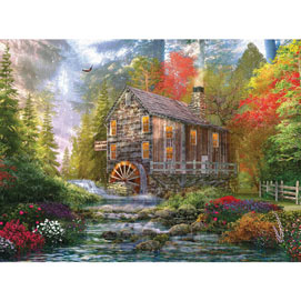 The Old Wood Mill 500 Piece Jigsaw Puzzle