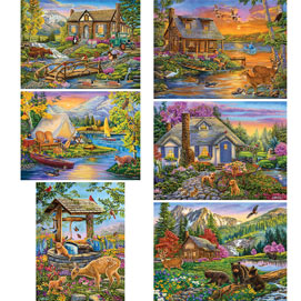 Set of 6: Cory Carlson 1000 Piece Jigsaw Puzzle