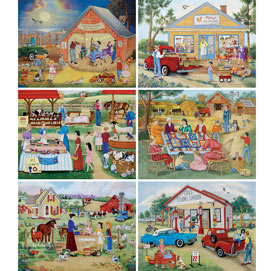 Set of 6: Kay Lamb Shannon 1000 Piece Jigsaw Puzzles