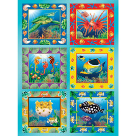 Ocean Life Quilt 1000 Piece Jigsaw Puzzle