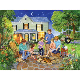 Marshmallow Roast 300 Large Piece Jigsaw Puzzle