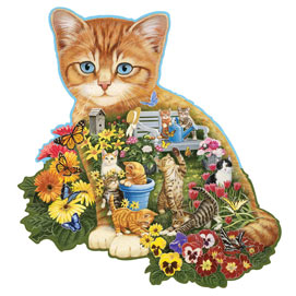 Ginger Kitten 750 Piece Shaped Jigsaw Puzzle