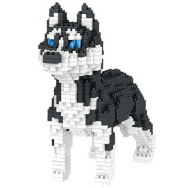 Dog Breed 3-D BlockPuzzle- Husky