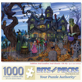 Goblins And Goodies And Ghouls 1000 Piece Jigsaw Puzzle