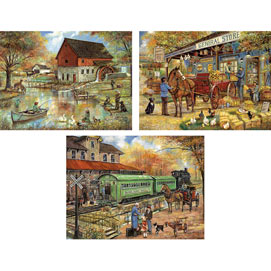 Set of 3: Ruane Manning 300 Large Piece Jigsaw Puzzles