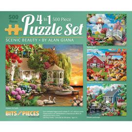 Scenic Beauty 500 Piece 4-in-1 Multi-Pack Set