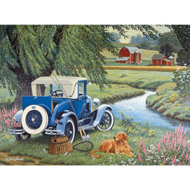 Gone Fishing 300 Large Piece Jigsaw Puzzle