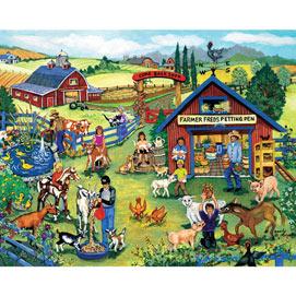 On The Farm 4-in-1 500 Piece Sandy Rusinko Jigsaw Puzzle Set