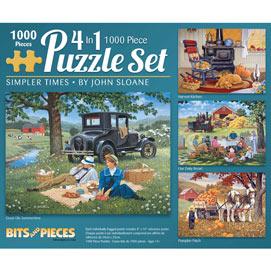 Simpler Times 1000 4-in-1 Piece John Sloane Multi-pack Set