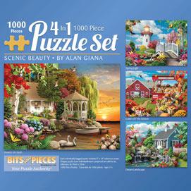 Scenic Beauty 1000 Piece 4-in-1 Multi-Pack Set