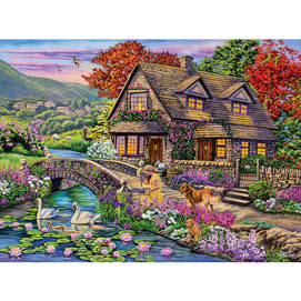 Swan Cottage 500 Piece Jigsaw Puzzle
