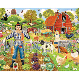 Scarecrow's New Friends 1000 Piece Jigsaw Puzzle