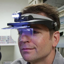 Visor Magnifier With Light