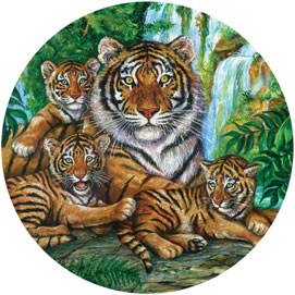 Watchful Eyes 300 Large Piece Round Jigsaw Puzzle