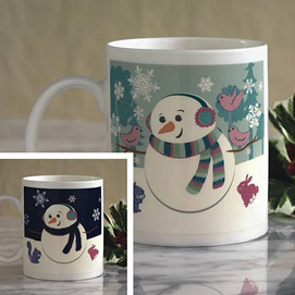 Happy Snowman Colour Changing Mug