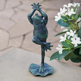 Frog Tree Pose Sculpture