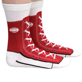 Red Sneaker Socks