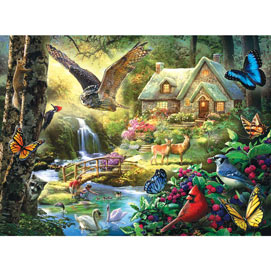 Forest Cottage 300 Large Piece Jigsaw Puzzle